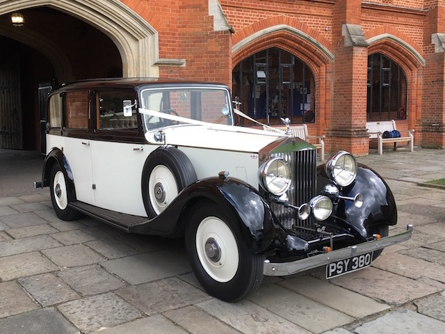 Vintage Rolls Royce wedding car