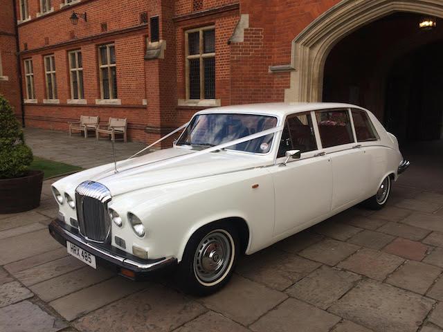 White Daimler Limousine DS420 Wedding Car Hire London