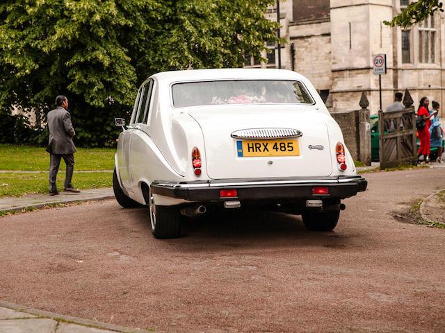 White Daimler Limousine